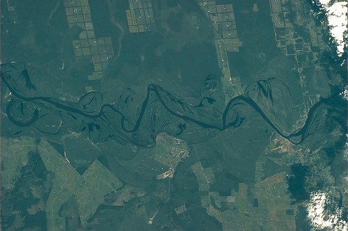 """""""Even rivers have to change their course many times during their lifetime.""""  Luca Parmitano  Photo Credit: ESA/NASA/Parmitano"""