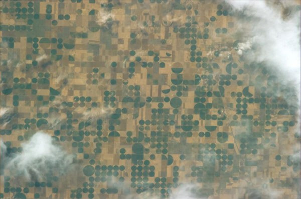 """Like a Mondrian, fields in #Kansas, #USA"" - Luca Parmitano Photo Credit: ESA/NASA/Parmitano"