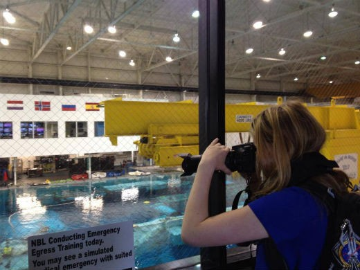 Here I am right in front of the Neutral Buoyancy Laboratory pool at the Johnson Space Center!