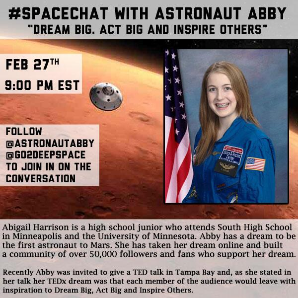 #SpaceChat with Astronaut Abby