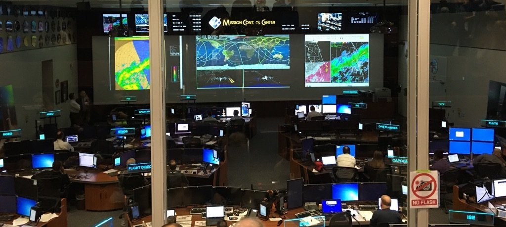 Mission Control Cygnus Launch Space Center Houston
