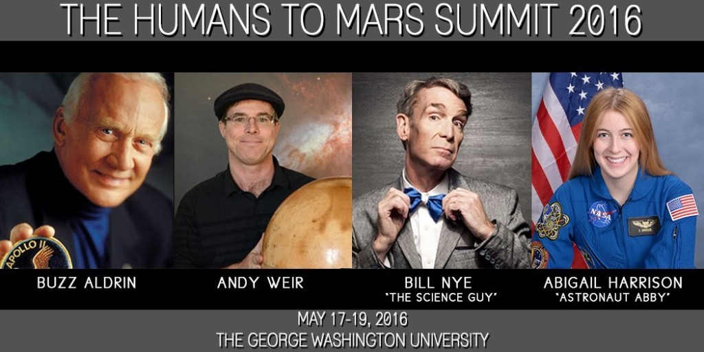 Buzz Aldrin Astronaut Abby Bill Nye Andy Weir Humans to Mars Summit
