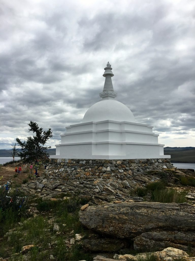 Tibetan Buddhist Stupa on Ogoi Island Photo credit: Wellesley Baikal Research Team