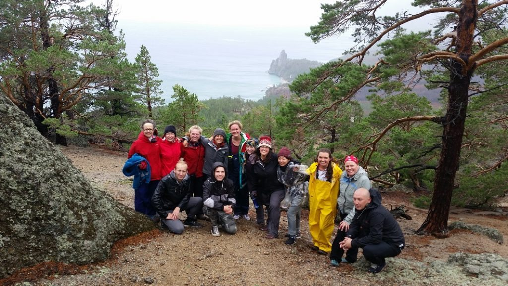 Hiking to Granddaughter's Cove Photo credit: Wellesley Baikal Research Team