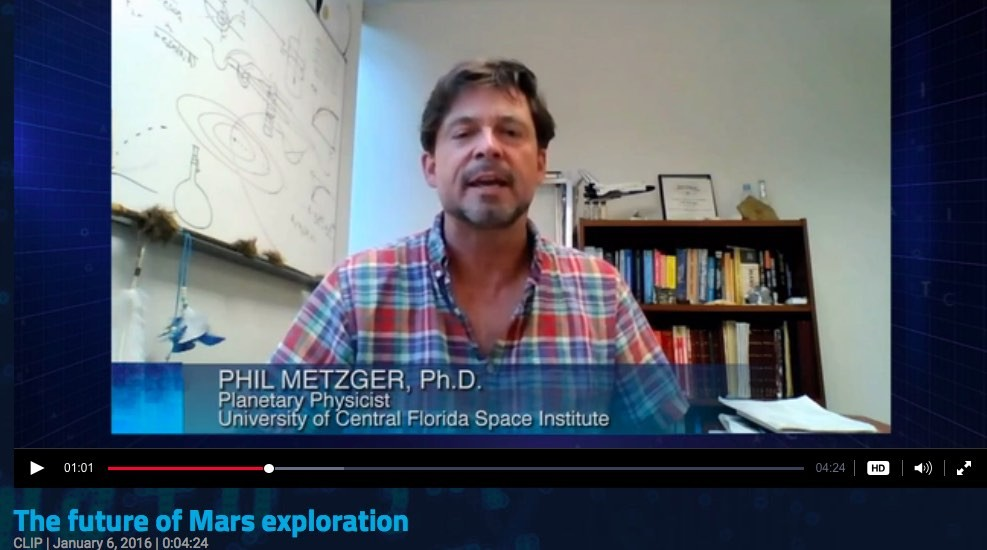 Dr. Phil Metzger Planetary Physicist NASA