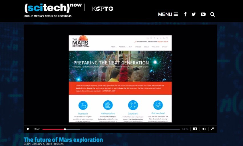 Scitech now PBS The Mars Generation